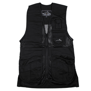 Wild Hare Heatwave Mesh Vest -- Black mesh shooting vest, heatwave, trap, skeet, sporting clays vest, reactar pad