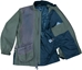 Wild Hare Hydro-Elite Waterproof Shooting Jacket - Olive with Brown Distressed Leather - WH-471L-OV-RH-2XL