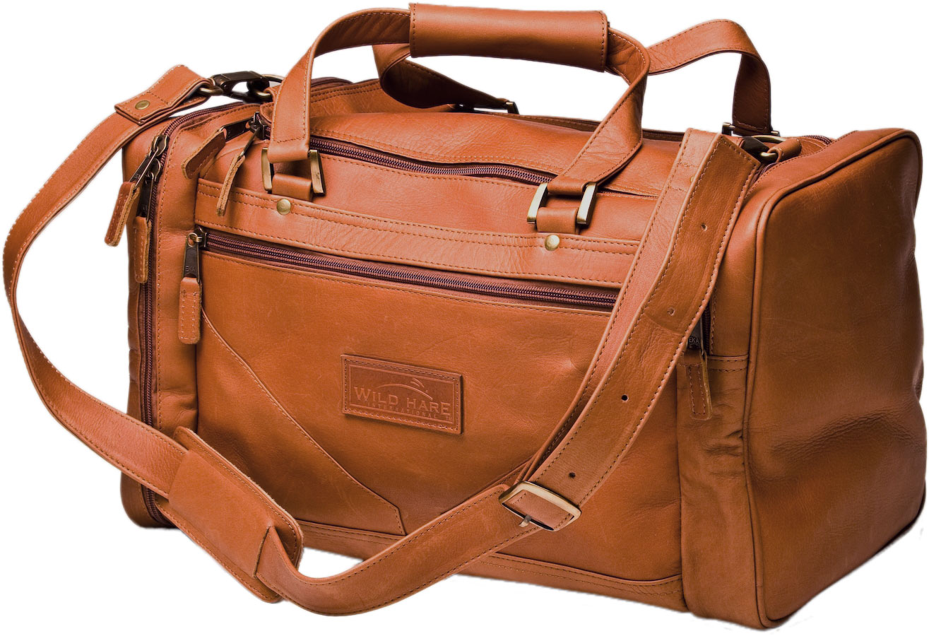54080156e0d Wild Hare Shooting Gear - Wild Hare Leather Duffle Bag  WH-500L