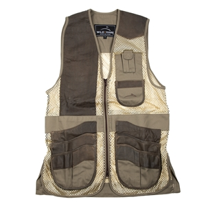 Wild Hare Range Vest Leather and Mesh - Personalized mesh shooting vest, heatwave, trap, skeet, sporting clays vest, leather trap vest, leather shooting vest, wild hare vest, wild hare shooting gear