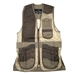Wild Hare Range Vest Leather and Mesh  -- Sage and Brown - WH-445L-SB-RH-L